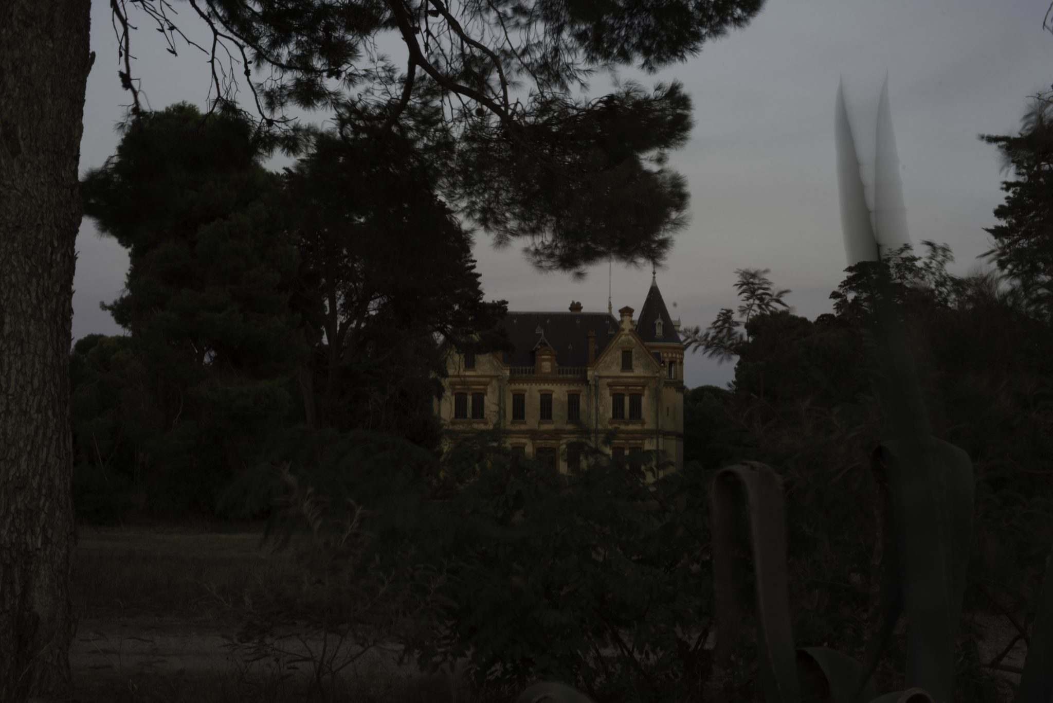 Decay and Wonder: a French Chateau at Night